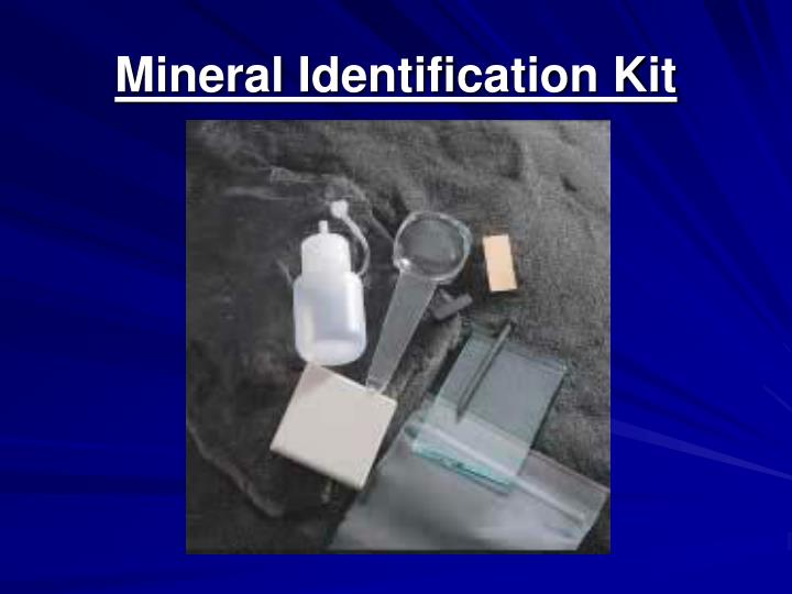 Mineral Identification Kit