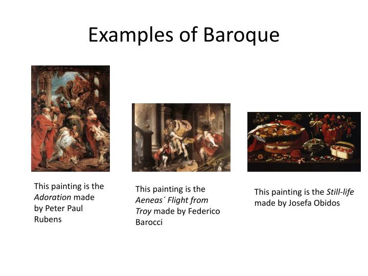 Examples of Baroque