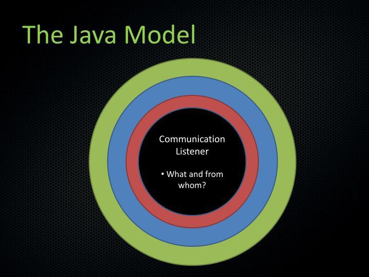 The Java Model