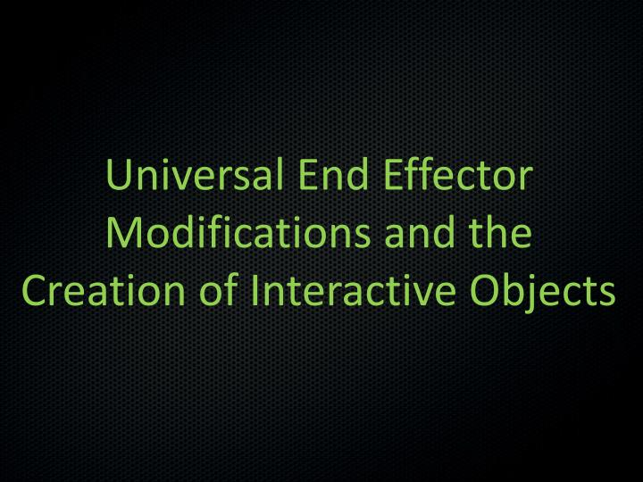 Universal End