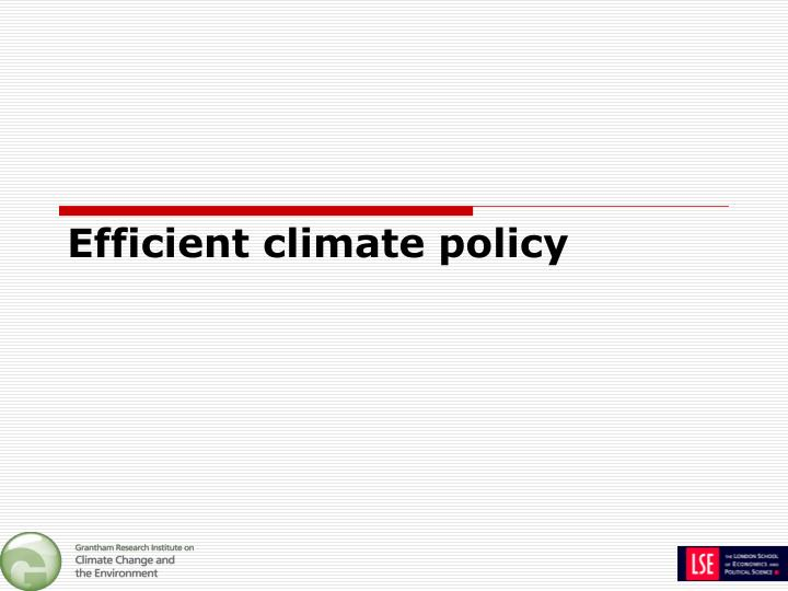 Efficient climate policy