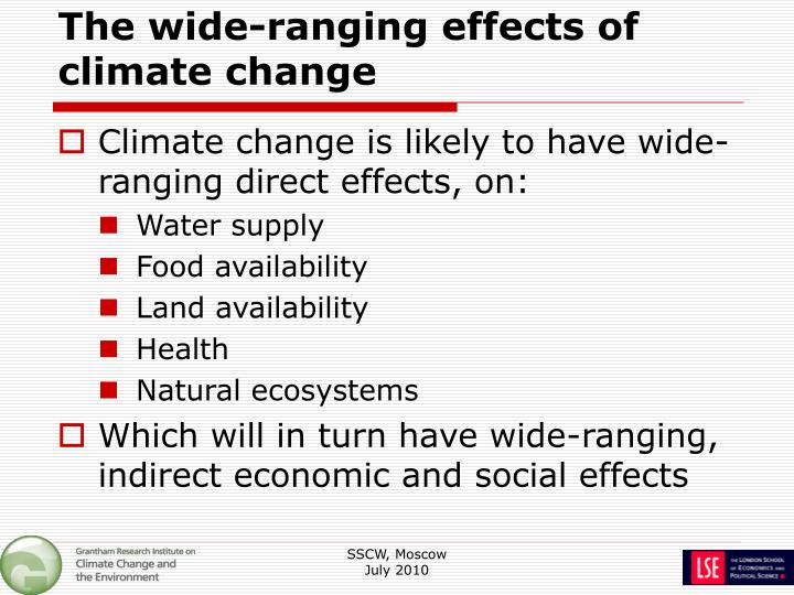 The wide-ranging effects of climate change