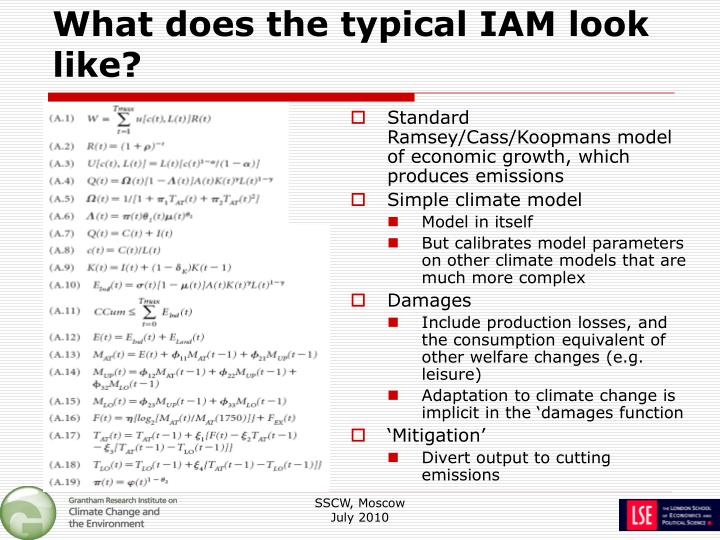 What does the typical IAM look like?