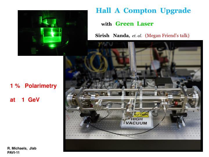 Hall  A  Compton  Upgrade