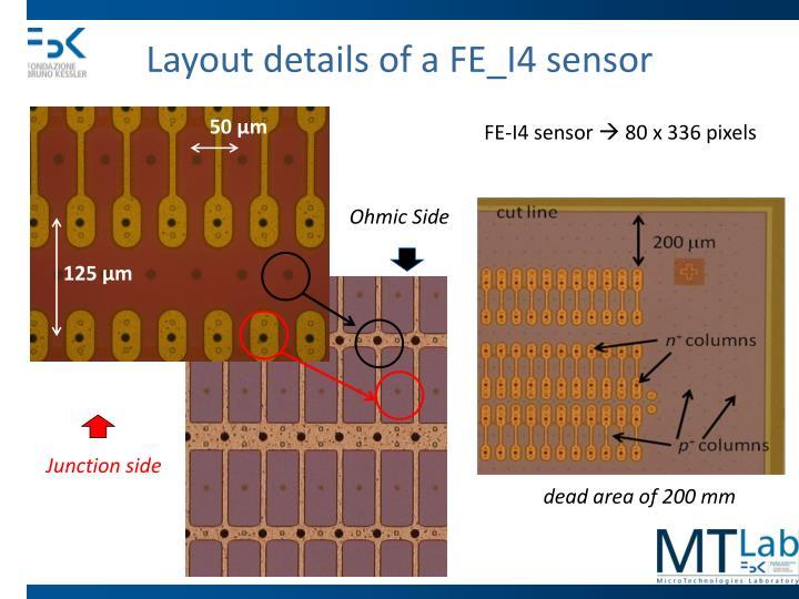 Layout details of a FE_I4 sensor