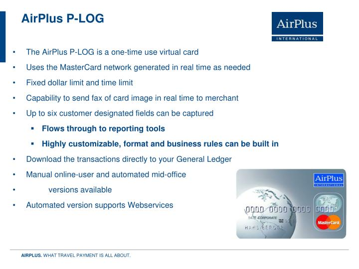 AirPlus P-LOG