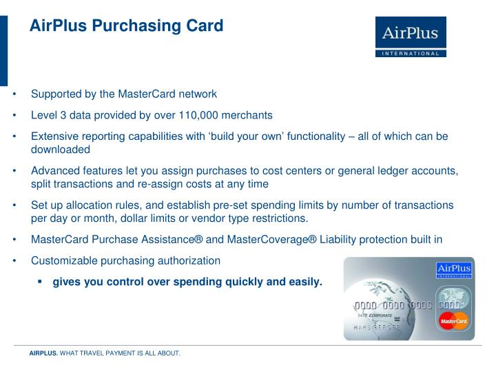 AirPlus Purchasing Card