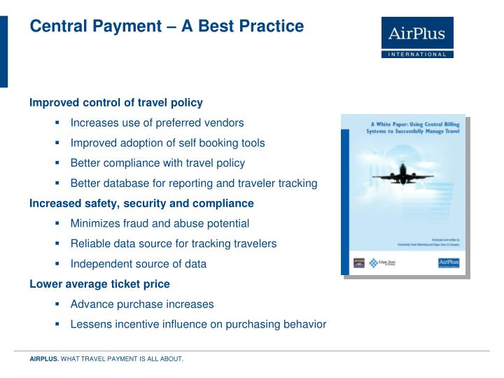 Central Payment – A Best Practice