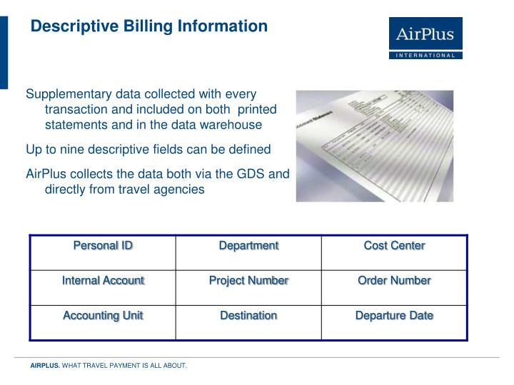 Descriptive Billing Information