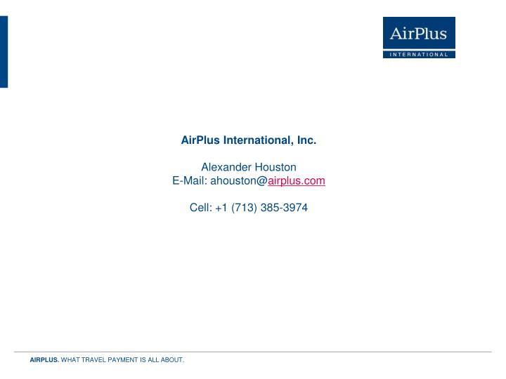 AirPlus International, Inc.