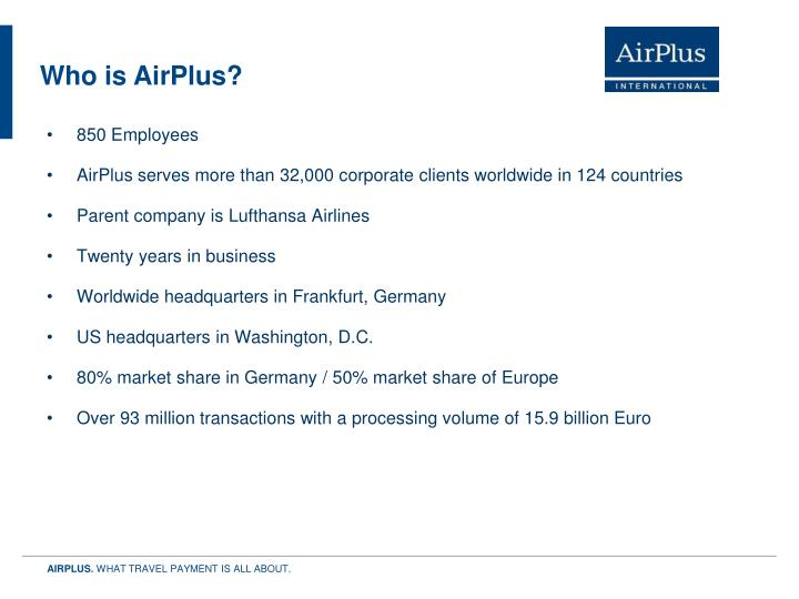 Who is AirPlus?