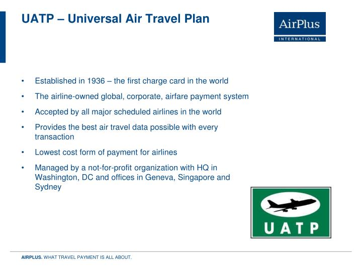 UATP – Universal Air Travel Plan