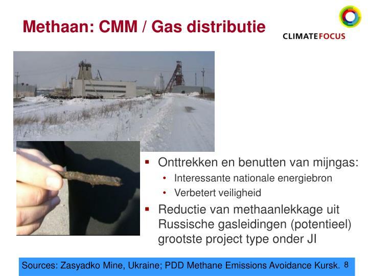 Methaan: CMM / Gas distributie