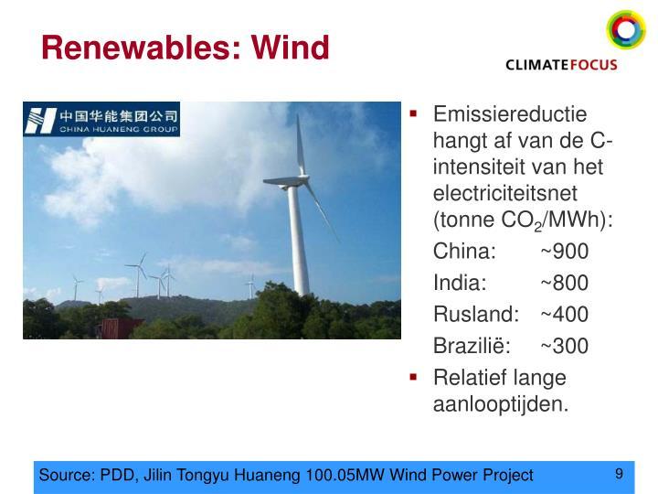 Renewables: Wind