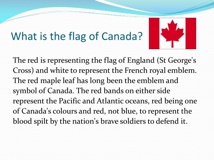 What is the flag of Canada?