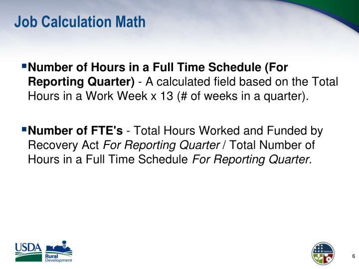Job Calculation Math