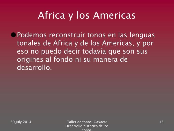 Africa y los Americas