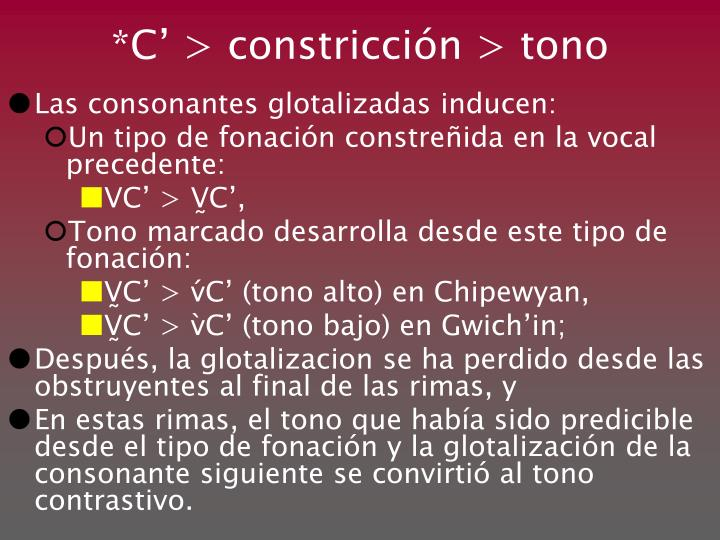 *C' > constricci