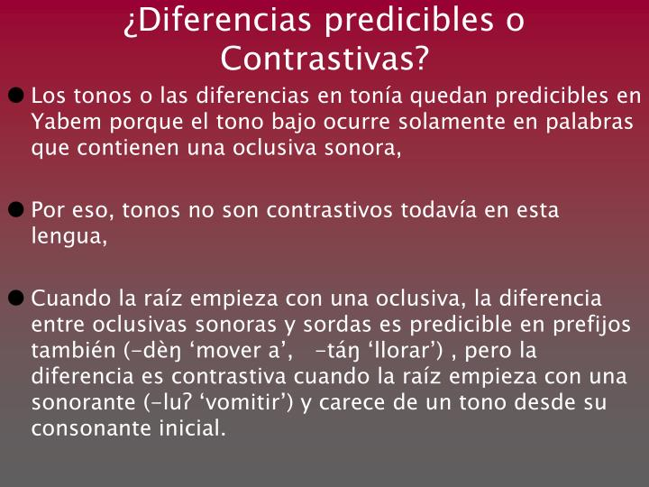 ¿Diferencias p