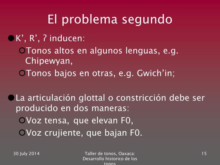 El problema segundo