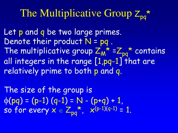 The Multiplicative Group