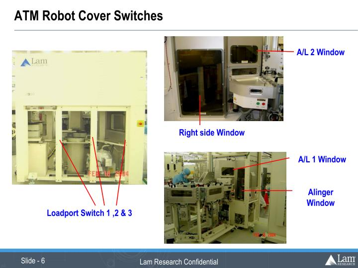 ATM Robot Cover Switches