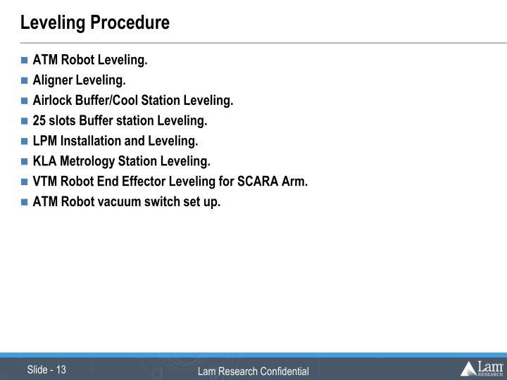 Leveling Procedure