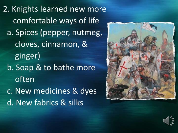 2. Knights learned new more