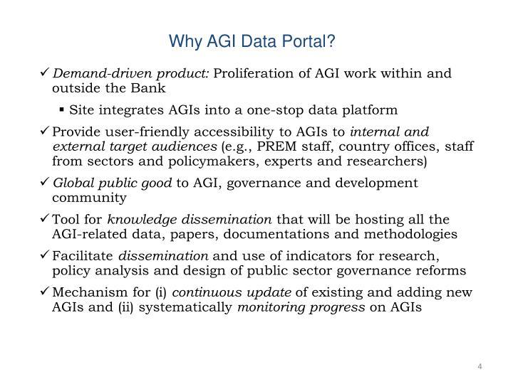 Why AGI Data Portal?