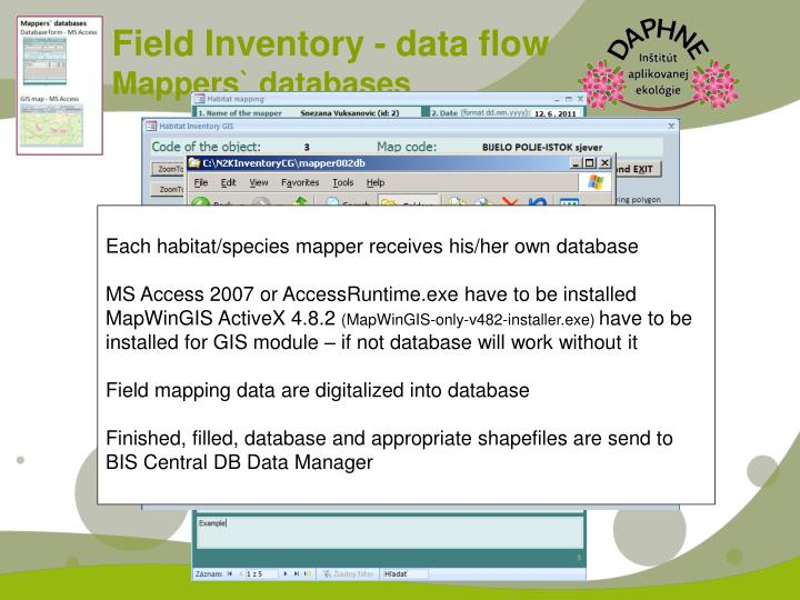 Field Inventory - data flow