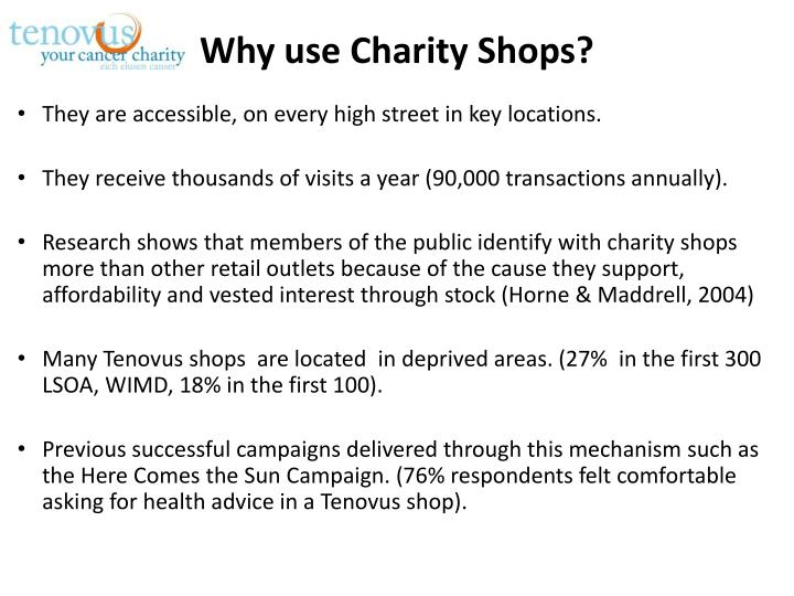 Why use Charity Shops?