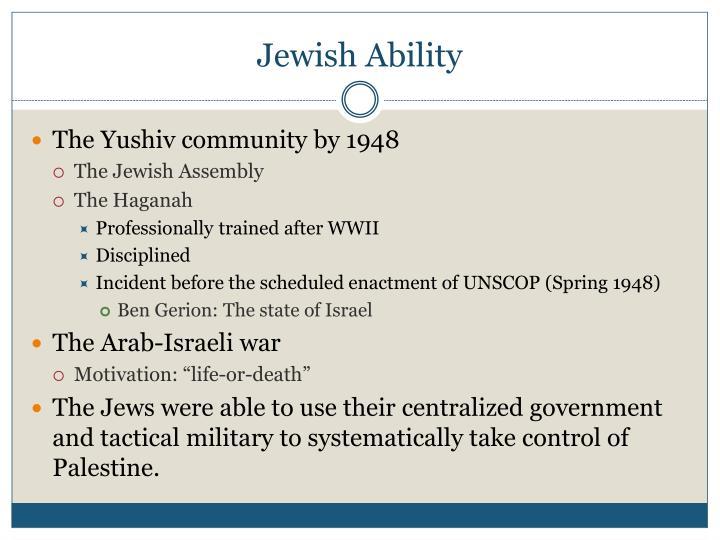 Jewish Ability