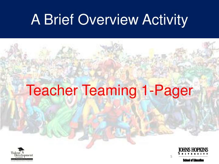 A Brief Overview Activity