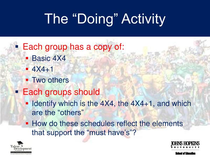 "The ""Doing"" Activity"