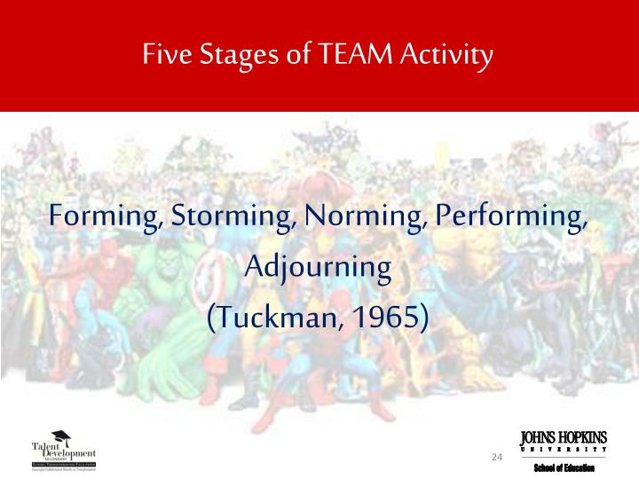 Five Stages of TEAM Activity