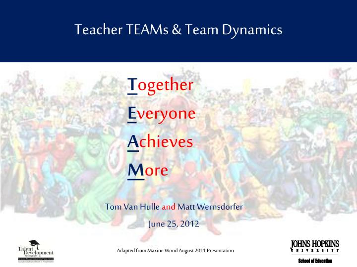 teacher teams team dynamics