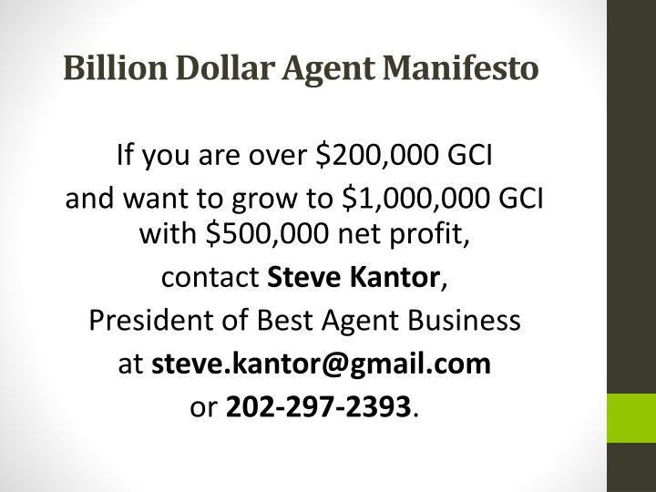 If you are over $200,000 GCI