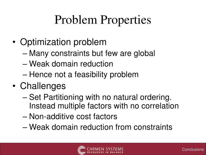 Problem Properties