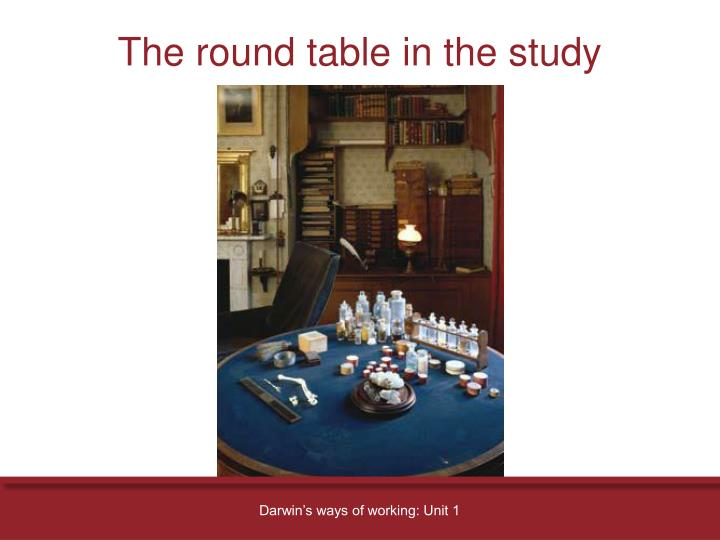 The round table in the study
