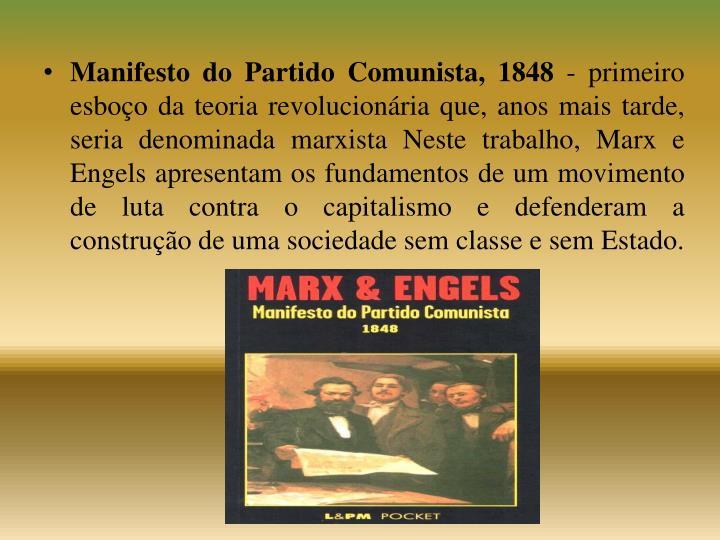 Manifesto do Partido Comunista, 1848