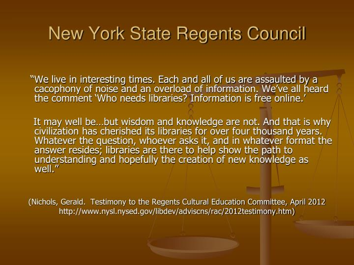 New York State Regents Council