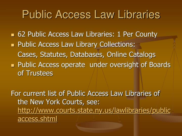 Public Access Law Libraries