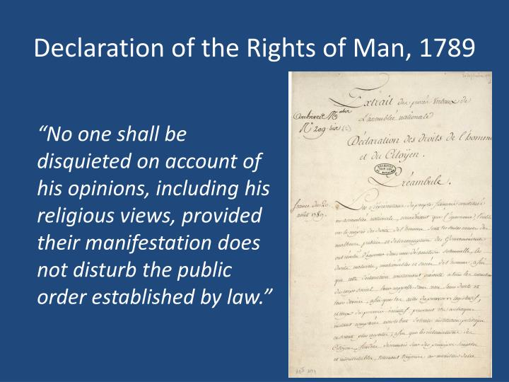 Declaration of the Rights of Man, 1789