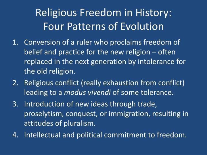 Religious Freedom in History: