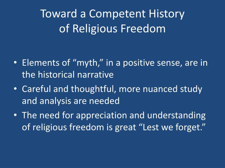 Toward a Competent History