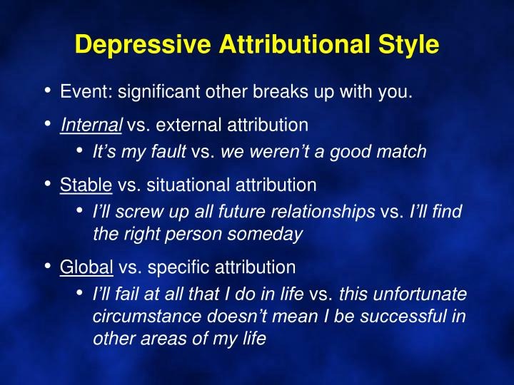 Depressive Attributional Style
