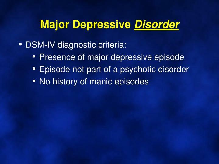 Major Depressive
