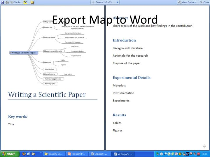 Export Map to Word