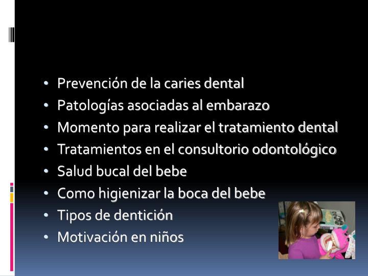 Prevención de la caries dental