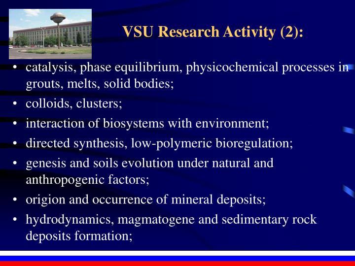 VSU Research Activity (2):